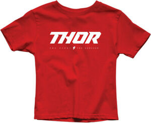 Thor 2020 Youth Boys Loud 100% Cotton T-Shirt Red All Sizes