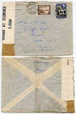 BERMUDA WW2 IRELAND ISLAND CENSORED to PLUMSTEAD GB 1/6 + 3d TRANSATLANTIC