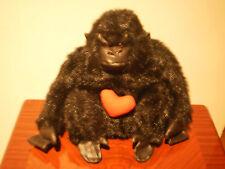 "VALENTINE'S DAY GIFT - BLACK GORILLA WITH HEART ""KORIMCO"" PLUSH SOFT TOY"