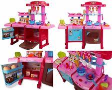 Spielküche Kinderküche Rosa Kinder Küche mit Zubehör Töpfe Pfannen Play&Smile