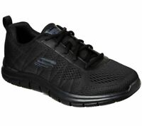 Skechers Black Shoes Wide Width Men Memory Foam Mesh Sport Comfort Casual 232081