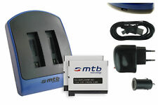 2x Baterìa + Cargador doble (USB) AHDBT-401 / AHDBT401 para GoPro Hero 4