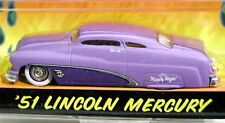 JADA 51 1951 LINCOLN MERCURY ROAD RATS CUSTOM STYLE MERC AT ROD HOT ROD CAR PURP