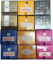 Golden, Goloka, Satya Nag Champa Mix Incense Cone Lot 12 pack of Incense cones