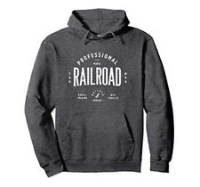 RETRO MODEL RAILROAD Hoodie by Turbo Volcano: Vintage Style *NEW* Sweatshirt