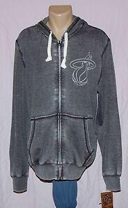 MENS Miami Heat Alternate Logo Hoody G-III Sports Burnout Full Zip Sweatshirt M