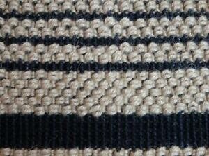 Black Loop Striped Rug