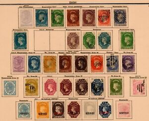 Ceylon 1855-1905: Nearly Complete Collection Incl. Service Stamps/O