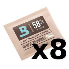 Boveda 58% RH 8 gram Humidipak - 8 Pack - 2-way Humidity Control (8g) New