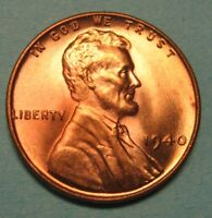 1940 Lincoln Wheat Cent in the CH BU Red Range Nice Coins DUTCH AUCTION