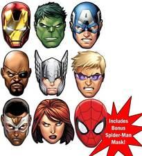 Marvel's The Avengers Ultimative Superheld Set mit 9 Auswahl Karte Vorderseite