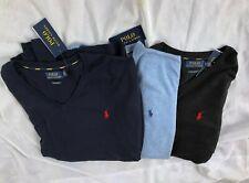 $98.5 NWT Men's Polo Ralph Lauren Long Sleeve V-neck 100% Pima Cotton Sweater