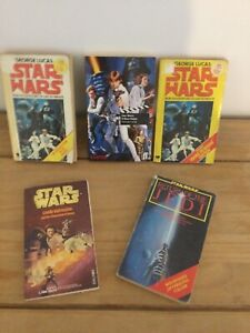 5 Vintage Star Wars Books A New Hope, Return of the Jedi, ROTJ, Lando Calrissian