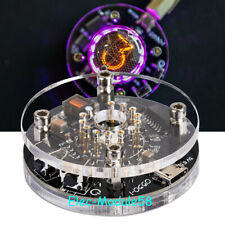 USB Powered Vintage Single Digit Nixie Round Clock Without QS30-1 Tube Desk