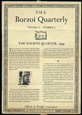 Borzoi Quarterly Volume 8 Number 4 The Fourth Quarter 1959 / First Edition