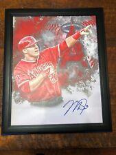 Mike Trout Signed 16x20 Canvas Photo JSA Coa Autographed Angels
