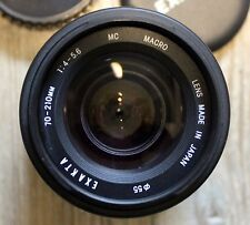 Objektiv Exakta für Minolta 70-210 mm Macro