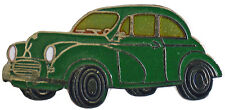 Morris Minor saloon car cut out lapel pin - Green body