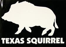 """TEXAS SQUIRREL Wild Boar - Hunting Decal Sticker 6.5"""""""