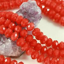 36 pcs 12mm Chinese Crystal Glass Beads Faceted Rondelle Strawberry Red Agate