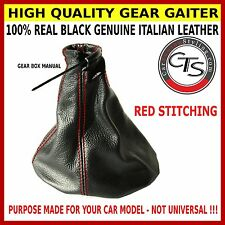 VAUXHALL OPEL HOLDEN VECTRA B 96-02 RED STITCH GEAR STICK KNOB COVER GAITER