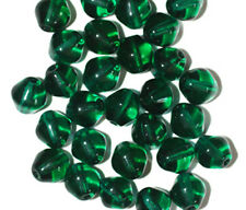 Emerald Heart Czech Pressed Glass Beads 8mm (pack of 30)