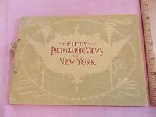 1897 Rand Mcnally Nyc New York City 50 Photos Viewbook Nice Shape ! Harlem