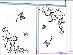 Large Butterfly Removable Wall Decor Vinyl Sticker Decal DIY Paper room BLACK