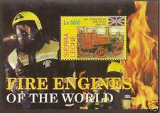 SIERRA LEONE 2005 FIRE ENGINES Horse driven Fire Truck Souvenir Sheet No 1 MNH