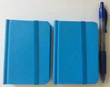 "2-pack New Small Blue Hardcover Pocket Notebook Journal 96 Pages 4.5 x 3"" Ruled"
