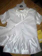 Nwt Infant Boy White Christening (3-6 mo) Size Small