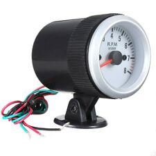 2'' 52mm Car Engine Rev Counter 12V Tachometer Pointer Gauge Meter 0-8000RPM sp
