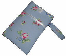 Rose Blue Shabby Chic Mobile Smart Phone Ipod Iphone Case Cover Sleeve Bag NEW