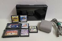Nintendo DS Lite Console Bundle Black With Mario 64, Kirby Games Charger No Pen