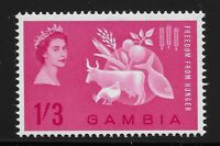 Gambia Scott #172, Single 1963 Complete Set FVF MH