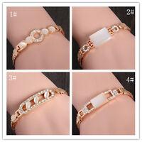 Wholesale hot Sale Gold Plated Shiny Crystal Lady's Bracelet Adjustable