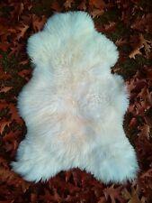 AUTHENTIQUE haute qualité peau de mouton, d'AGNEAU FOURRURE Haut Nature Blanc
