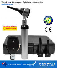 Veterinary Otoscope Ophthalmoscope Set, ENT, Vet, Ear, Eye, Diagnostic, Premium