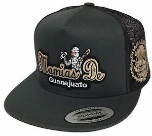 MOMIAS DE GUANAJUATO MEXICO LOGO FEDERAL 2 LOGOS HAT DARK GREY MESH SNAPBACK