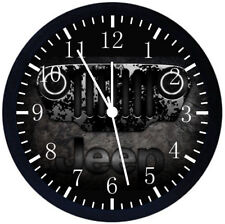Jeep Wrangler Black Frame Wall Clock Nice For Decor or Gifts E330