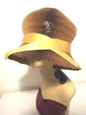 VINTAGE Donna Cappello RARA CHAPEAU DU Cuffia Cappello Pieghevole in oro di un oggetto d'arte