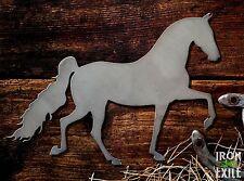 Walking Trotting Horse 01 Equine Farm Ranch Barn Western Metal Wall Art Decor