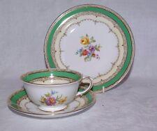CROWN Staffordshire Vintage Floreale Trio da Tè Set Tazza Piattino Piatto f14486