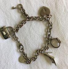 Boho Pretty KAREN MILLEN Designer CHARM   Bracelet Handbag Heart Key Shoe