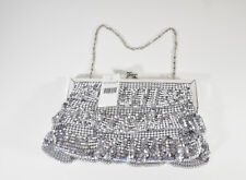 Women's Girls Icing Silver Sparkle Dangle Reflective Prom Homecoming Purse Bag