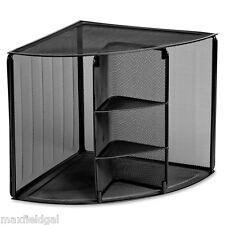 LARGE Wire Mesh Corner Desk Top Organizer, Strong, rubber feet, cubbies, shelves