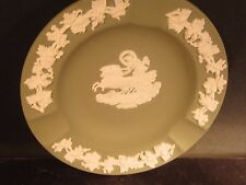 Wedgwood Jasperware Green & White Ashtray Chariot Horses