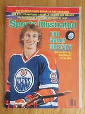 WAYNE GRETZKY 1st Sports Illustrated 10/12/81 Magazine No Label EDMONTON OILERS