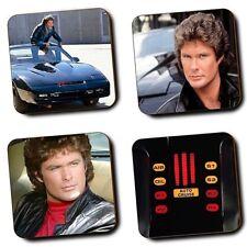 Knight Rider David Hasselhoff Michael Knight - KITT - Set of 4 - Wood Coasters