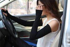 Random Fashion Women Lady Extra Long Lace cuff Fingerless Gloves Sunscreen